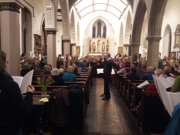 Nick Houghton conducting the second performance of Spem in Alium at the Lewes Chamber Choir Singing Day February 2013